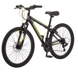 """Mongoose Excursion Mountain Bike, 24"""", 21 Speed - Black/ Yel"""
