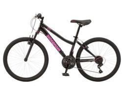 """Mongoose Excursion Mountain Bike,24"""", Black/Pink"""