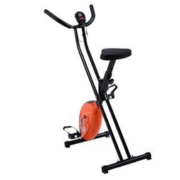 Goplus Exercise Bike Magnetic Resistance Upright Folding Bic