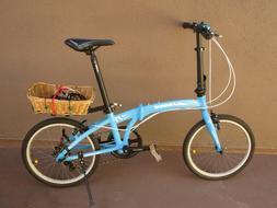 "Sundeal F1 Folding Bike 20"" Shimano 7 Spd , customised,"
