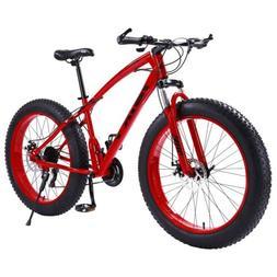 "Fat Bike 26Inch 21Speed Sand,Snow Mountain Bike 4.0"" Fat T"
