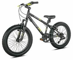 Boys Fat Tire 20 Inch Mountain Bike Front Suspension Hand Br