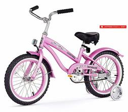 Firmstrong Girl's Bella Bicycle with Training Wheels