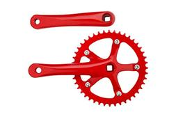 Pure Fix 44T Fixie Crankset for Fixed Gear Bike, Red, 44T
