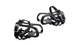 Pure Fix Bicycle Pedals with Cages and Straps, Black