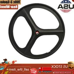 Fixed Gear 700c 17 Teeth Tri Spoke Rim Rear Fixie Single Spe