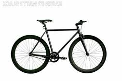 "Fixed Gear Bike Caraci F2 Steel Black bicycle 27"" men women"