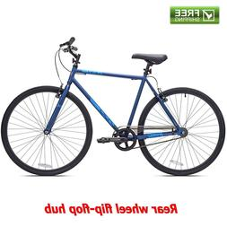 Kent Fixie Bike 700C Black Blue Men's Single Speed Sport Cit