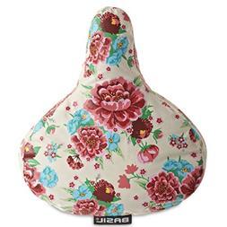 Floral Print Basil Bloom Bike Seat Saddle Cover