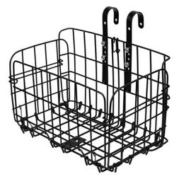 Foldable Bicycle Bike Basket Front Rear Metal Wire Storage C