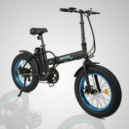 "Folding 20""500W 36V12.5Ah 4""Tire Electric Bicycle Beach Snow"