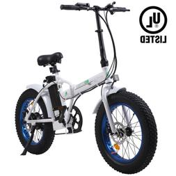 "Folding 20""500W 36V12.5Ah  Fat Tire Electric Bicycle Beach S"
