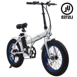 "Folding 20""500W 36V12.5Ah  Fat Tire Electric Bicycle Beach S"