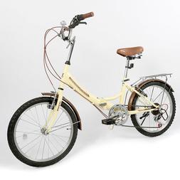 ZOYO Folding Bike 20'' Folding Bicycle Kids Adult 6 Speed Fo