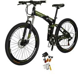 Eurobike Folding Bike 21 Speed Full Suspension Bicycle 27.5""