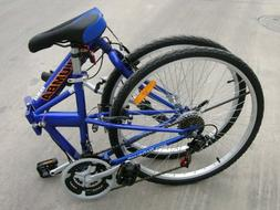 "Columba 26"" Folding Bike w. Shimano 18 Speed Blue"