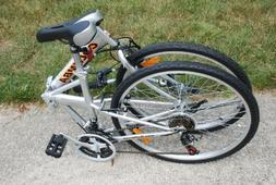 "Columba 26"" Folding Bike w. Shimano 18 Speed Silver"