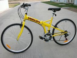 "Columba 26"" Folding Bike w. Shimano 18 Speed Yellow"