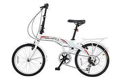 """Stowabike 20"""" Folding City V3 Compact Foldable Bike – 6 Sp"""