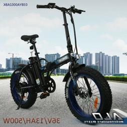 "Folding Electric Bicycle Beach Snow City eBike 7 Spe 20""500W"