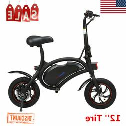 Excelvan Folding Electric Bike 20km/h Collapsible Bicycle He