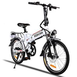 ANCHEER Folding Electric Bike with 36V 8AH Removable Lithium