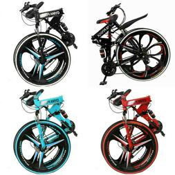 Folding/Full Suspension Mountain Bike Road 21 Speed Men's Bi