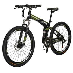 folding mountain bike 21 speed full suspension