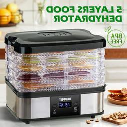 5 Tray Electric Food Dehydrator Dryer Machine Fruit Beef Jer