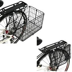 Axiom Folding Rear Pannier Basket Black
