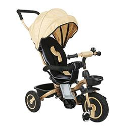 Fascol Folding tricycle Childrens Tricycle Kids Trike 3 Whee