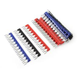15 Pcs Fork Type 12 Postions Terminal Strip Jumper 400V 10A