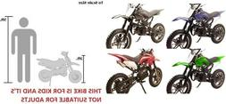 Kid 49CC 2-Stroke Gas Motor Dirt Bike Mini Pocket Bike Begin