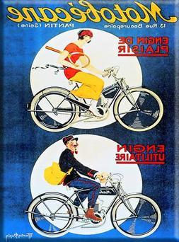 French Advertising Sign - Motobecane Motorized Bicycle Hybri