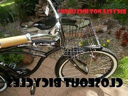 Front Bicycle Basket Lift Off Type Carrier Black Cruiser Com