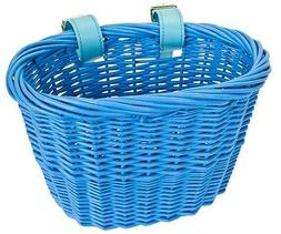 FRONT BICYCLE BIKE BASKET MINI WILLOW WICKER BASKET BLUE BE9
