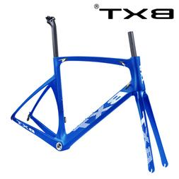 Full Carbon Road Bike Frame Fork Seatpost 700C BSA Racing Fr