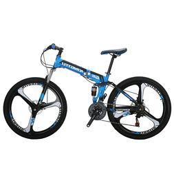 "Eurobike 26"" Foling Mountain Bike Full Suspension 21 Speed B"