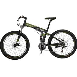 "Full Suspension Folding Mountain Bike 27.5"" 21 Speed Bicycle"
