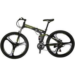 Full Suspension Folding Mountain Bike 27.5 21 Speed Armygree