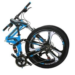 "G4 26"" Full Suspension Folding Mountain Bike 21 Speed Bicycl"