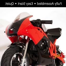 Gas Powered Kids Mini Motorcycle 40cc Pocket Bike - Black &