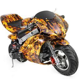 Gas Pocket Super Mini Bike Motorcycle Kids 40cc 4-Stroke Eng