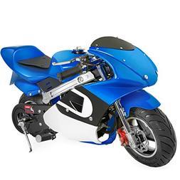 XtremepowerUS Gas Pocket Bike Motorcycle 40cc 4-Stroke Engin