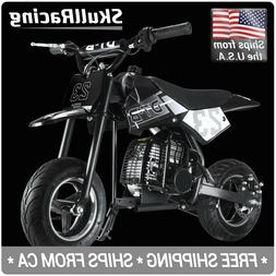 SkullRacing Gas Powered Kids Mini Pocket Dirt Bike Motorcycl