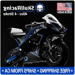 SkullRacing Gas Powered Mini Pocket Bike Motorcycle 40RR