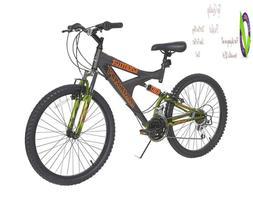 Dynacraft Gauntlet Boys' Dual Suspension 21-Speed Bike, Gray