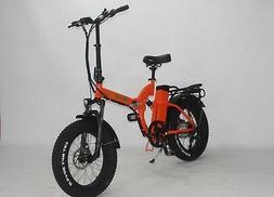 Green Bike USA GB750 fat tire folding Electric Bicycle 8FUN