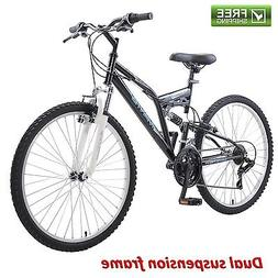 Mantis Unisex Ghost 26 Full Suspension MTB Bicycle, Black