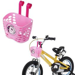 Girl Bike Basket Cute Cartoon Pattern Bicycle Handlebar Bask
